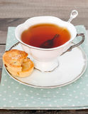 Cup of tea and biscuits Royalty Free Stock Photography