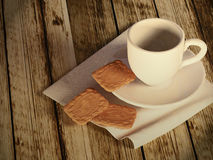 Cup of tea and biscuits Stock Photos