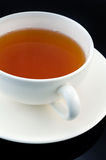 Cup of tea on black bacground Royalty Free Stock Photos