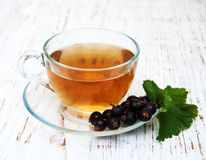 Cup of tea and black currant Stock Photography