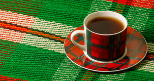 Cup of tea on the blanket Royalty Free Stock Photos
