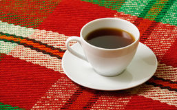 Cup of tea on the blanket Stock Photography