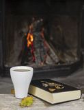 Cup of tea and a book Stock Image
