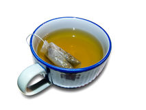 Cup of tea. With tea bug inside Royalty Free Stock Image