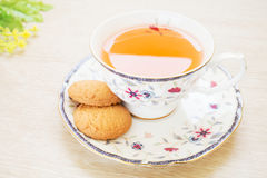Cup of tea and butter cookies Royalty Free Stock Photography