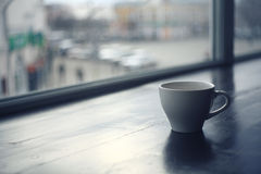 Cup of tea at a cafe Stock Images