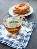 Cup of tea and cake Stock Photo