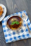 Cup of tea and cake Royalty Free Stock Photos
