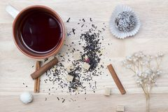 Cup tea and cake Stock Image