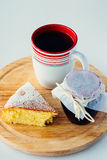 A cup of tea with cake Royalty Free Stock Images