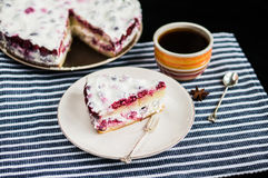 Cup of tea with cake Royalty Free Stock Photo