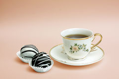 The cup of tea with cakes Royalty Free Stock Photography