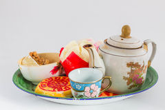 Cup of tea and cakes of China. Royalty Free Stock Image