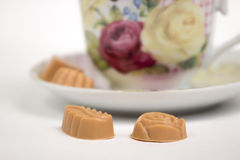 Cup of tea with candies Stock Photo
