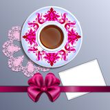 A cup of tea and card Royalty Free Stock Photos