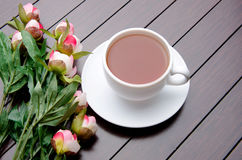 The cup of tea in catering concept Stock Images