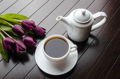 The cup of tea in catering concept Royalty Free Stock Photo