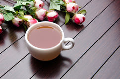 The cup of tea in catering concept Stock Photo