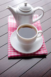 The cup of tea in catering concept Stock Photos
