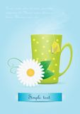 Cup of tea with chamomile flower Stock Photography