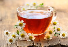 Cup of tea and chamomile flowers Royalty Free Stock Photo