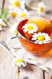 Cup of tea with chamomile flowers Royalty Free Stock Photo