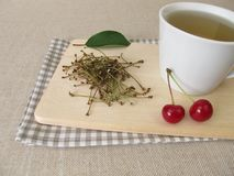 Tea from cherry stems Stock Photography