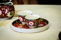Cup of tea Chinese style. 2 Cups of tea Chinese style or Chinese culture Stock Images