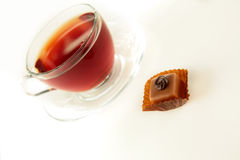 Cup of tea and chocolate Stock Image