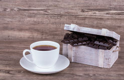 Cup of tea and chocolate Royalty Free Stock Photography