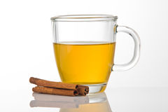 Cup of tea with cinnamon Stock Photos