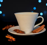 Cup of tea with cinnamon and anise Stock Images