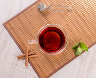 Cup of tea with cinnamon and mint Stock Photography