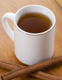 Cup of Tea With Cinnamon Sticks Stock Images