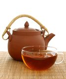 Cup of tea and clean teapot Royalty Free Stock Image
