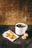 Cup of Tea with Coconut Cookies Royalty Free Stock Photo