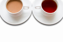 Cup of tea and coffee Royalty Free Stock Images
