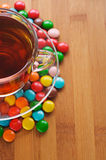 Cup (tea, coffee) and and colored Stock Image