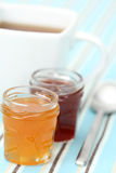 Cup of tea with confiture Royalty Free Stock Photo