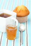 Cup of tea with confiture Stock Images