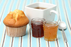 Cup of tea with confiture Royalty Free Stock Image