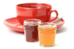 Cup of tea with confiture Stock Photo