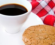 Cup of tea and cookie Royalty Free Stock Photo