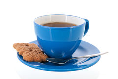 Cup of tea with cookie Royalty Free Stock Photography
