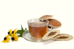Cup of tea with cookies Royalty Free Stock Image