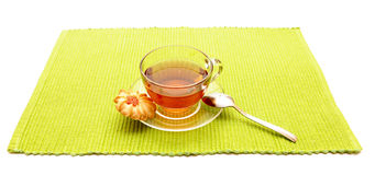 The cup of tea with cookies Royalty Free Stock Images