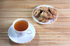 Cup of tea and cookies Royalty Free Stock Photo