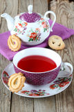 Cup of tea with cookies Royalty Free Stock Photography