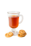 Cup of tea with cookies Stock Photo