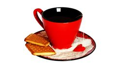Cup Of Tea And Cookies isolated Royalty Free Stock Images